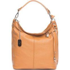 Torebki klasyczne damskie: Skórzana torebka w kolorze jasnobrązowym – 30 x 30 x 12 cm