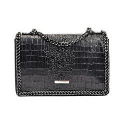 Torebki klasyczne damskie: Skórzana torebka w kolorze czarnym – (S)20 x (W)30 x (G)8 cm