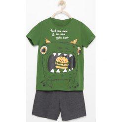 Bielizna chłopięca: Dwczęściowa piżama z szortami – Khaki