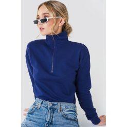 Bluzy damskie: NA-KD Bluza z suwakiem – Navy