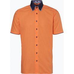 Finshley & Harding - Koszula męska, pomarańczowy. Czarne koszule męskie na spinki marki Finshley & Harding, w kratkę. Za 49,95 zł.