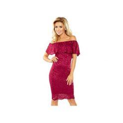 SUKIENKA HISZPAN KORONKOWA. Czerwone sukienki koronkowe marki Dressroad, l, oversize. Za 104,70 zł.