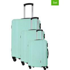 Walizki: Zestaw walizek w kolorze miętowym – 3 szt.