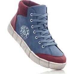 Wysokie buty sportowe bonprix ciemnoniebieski. Szare buty sportowe damskie marki bonprix, z materiału. Za 109,99 zł.