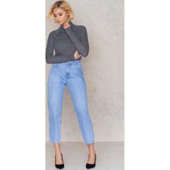 NA-KD Jeansy 7/8 z wysokim stanem - Blue. Niebieskie jeansy damskie NA-KD, z bawełny. W wyprzedaży za 110,48 zł.