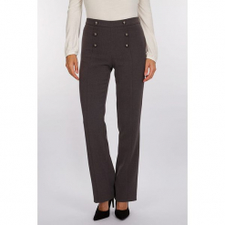 """Spodnie """"Cruise"""" w kolorze szarym. Szare spodnie z wysokim stanem Scottage. W wyprzedaży za 99,95 zł."""