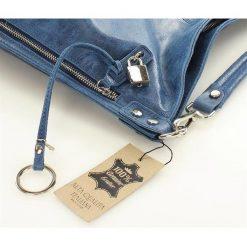 Skóra naturalna torebka worek Isabella MAZZINI niebieska. Szare torebki worki marki Reserved. Za 279,90 zł.