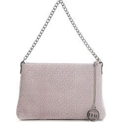 Torebki klasyczne damskie: Skórzana torebka w kolorze cielistym – 26 x 16 x 4 cm