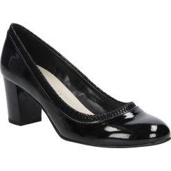 Czarne czółenka lakierowane na słupku Casu 1364. Czarne buty ślubne damskie Casu, z lakierowanej skóry, na słupku. Za 78,99 zł.