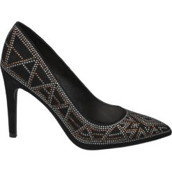 Szpilki damskie Graceland czarne. Czarne szpilki marki Graceland, w kolorowe wzory, z materiału. Za 119,90 zł.