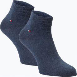 Tommy Hilfiger - Skarpety męskie pakowane po 2 szt., niebieski. Niebieskie skarpetki męskie marki TOMMY HILFIGER, z bawełny. Za 49,95 zł.