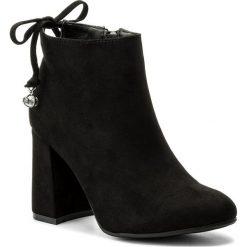 Botki JENNY FAIRY - WSG1160-2 Czarny. Czarne buty zimowe damskie Jenny Fairy, z materiału, na obcasie. Za 119,99 zł.