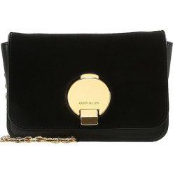 Torebki klasyczne damskie: Karen Millen DISC FASTENING SMALL BAG Torba na ramię black