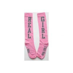 Podkolanówki: UGLY Podkolanówki RGT /Real Girl /Pink – cieniutkie