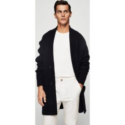 Mango Man - Sweter Oliver. Szare swetry klasyczne męskie Mango Man, l, w paski, z dzianiny. W wyprzedaży za 129,90 zł.