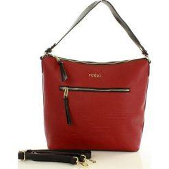 NOBO Superwygodna torba z dwoma paskami  czerwony. Czerwone torebki klasyczne damskie Nobo, w paski, ze skóry. Za 169,00 zł.