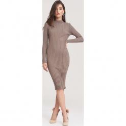 Khaki Sukienka Powder Grey. Brązowe sukienki dzianinowe marki other, na jesień, l. Za 89,99 zł.