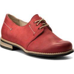 Oxfordy WASAK - 0393 Czerwony 1. Czerwone jazzówki damskie Wasak, z nubiku, na obcasie. W wyprzedaży za 159,00 zł.