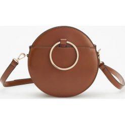 Okrągła torebka z metalowym uchwytem - Pomarańczo. Szare torebki klasyczne damskie marki Reserved. Za 119,99 zł.