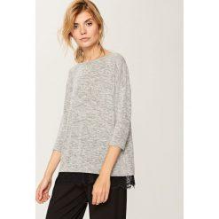 Sweter z koronką - Szary. Białe swetry klasyczne damskie marki Reserved, l. W wyprzedaży za 39,99 zł.