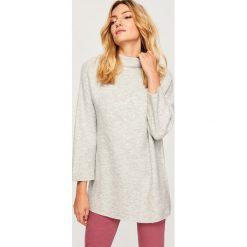 Sweter ze stójką - Jasny szar. Szare swetry klasyczne damskie Reserved, l, ze stójką. Za 79,99 zł.