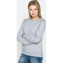 Sublevel - Bluza. Szare bluzy rozpinane damskie Sublevel, l, z aplikacjami, z bawełny, bez kaptura. W wyprzedaży za 89,90 zł.
