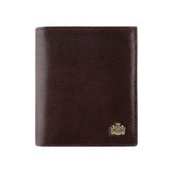 Portfele męskie: Skórzany portfel w kolorze brązowym – (D)12 x (S)11 cm