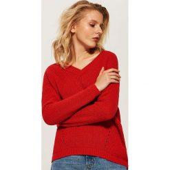 Sweter oversize - Czerwony. Czerwone swetry oversize damskie marki House, l. Za 89,99 zł.