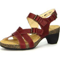 """Sandały damskie: Skórzane sandały """"Traudi"""" w kolorze bordowym"""