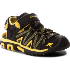 Buty dziecięce: Sandały KANGAROOS – Osato 18185 000 5028 Jet Black/Sun Yellow