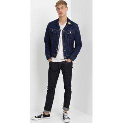 Lee SMILEY SLIM RIDER Kurtka jeansowa dark shade. Niebieskie kurtki męskie jeansowe marki Reserved, l. Za 499,00 zł.