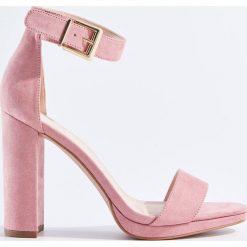 Rzymianki damskie: Sandały na słupku - Różowy