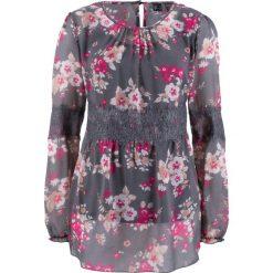Bluzki damskie: Bluzka szyfonowa z kolekcji Maite Kelly bonprix szary w kwiaty