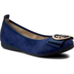Baleriny LA BALLERINA - 20010-188 Cam Blu Scuro. Niebieskie baleriny damskie zamszowe marki La Ballerina, na płaskiej podeszwie. W wyprzedaży za 269,00 zł.
