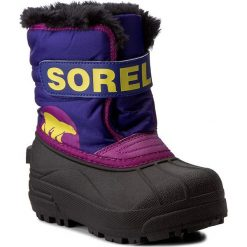 Kozaki dziewczęce: Śniegowce SOREL – Childrens Snow Commander NC1877 Grape Juice/Bright Plum 484