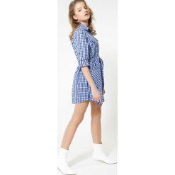 Sukienki hiszpanki: Niebieska Sukienka Positively Street