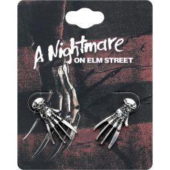 Nightmare on Elmstreet Freddys Klauen Kolczyki - Earpin srebrny. Szare kolczyki damskie Nightmare on Elmstreet, srebrne. Za 42,90 zł.