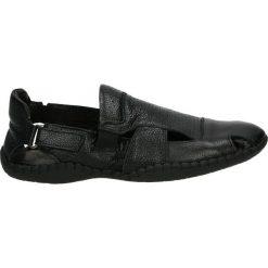 Sandały męskie skórzane: Sandały męskie - 4463890 NERO