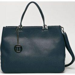 Monnari - Torebka. Brązowe torebki klasyczne damskie Monnari, w paski, z materiału, średnie. W wyprzedaży za 199,90 zł.