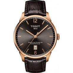 PROMOCJA ZEGAREK TISSOT T-Classic T099.407.36.447.00. Brązowe zegarki męskie TISSOT, ze stali. W wyprzedaży za 3212,00 zł.