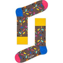 Happy Socks - Skarpety Axe. Brązowe skarpetki męskie Happy Socks, z bawełny. W wyprzedaży za 29,90 zł.