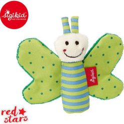 SIGIKID Miękka mini – przytulanka Zielony motylek z szeleszczącymi skrzydełkami Red Stars. Czerwone przytulanki i maskotki marki SIGIKID. Za 25,99 zł.