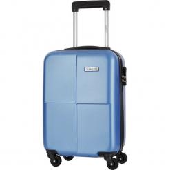 Walizka w kolorze jasnoniebieskim - 34 l. Niebieskie walizki Platinium, z materiału. W wyprzedaży za 159,95 zł.
