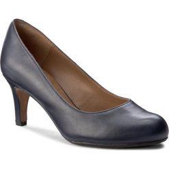 Półbuty CLARKS - Arista Abe 261291174 Navy Leather. Niebieskie creepersy damskie Clarks, ze skóry ekologicznej, eleganckie, na obcasie. W wyprzedaży za 219,00 zł.