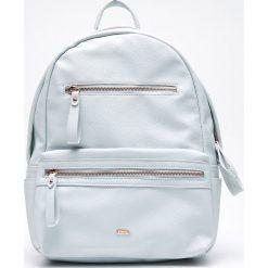 Plecaki damskie: Plecak z eko skóry – Niebieski