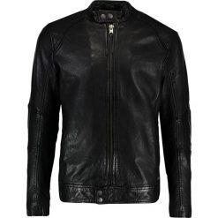 Tigha DEX Kurtka skórzana black. Czarne kurtki męskie bomber Tigha, m, z materiału. W wyprzedaży za 881,30 zł.