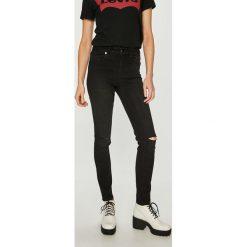 Silvian Heach - Jeansy Veronica. Czarne jeansy damskie rurki Silvian Heach, z bawełny, z podwyższonym stanem. Za 369,90 zł.