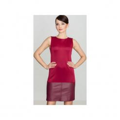 Sukienka K074 Bordo. Czerwone sukienki na komunię Lenitif, s, bez rękawów, proste. Za 129,00 zł.