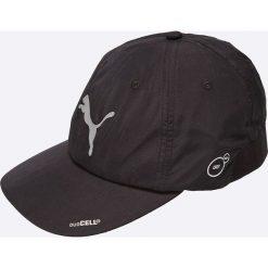 Puma - Czapka. Czarne czapki z daszkiem męskie Puma, z materiału. W wyprzedaży za 69,90 zł.