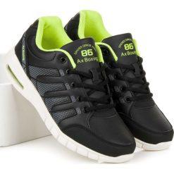Buty skate męskie: Czarne buty sportowe GRACE